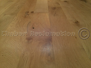 Wide Oak Timber Flooring from reclaimed wood