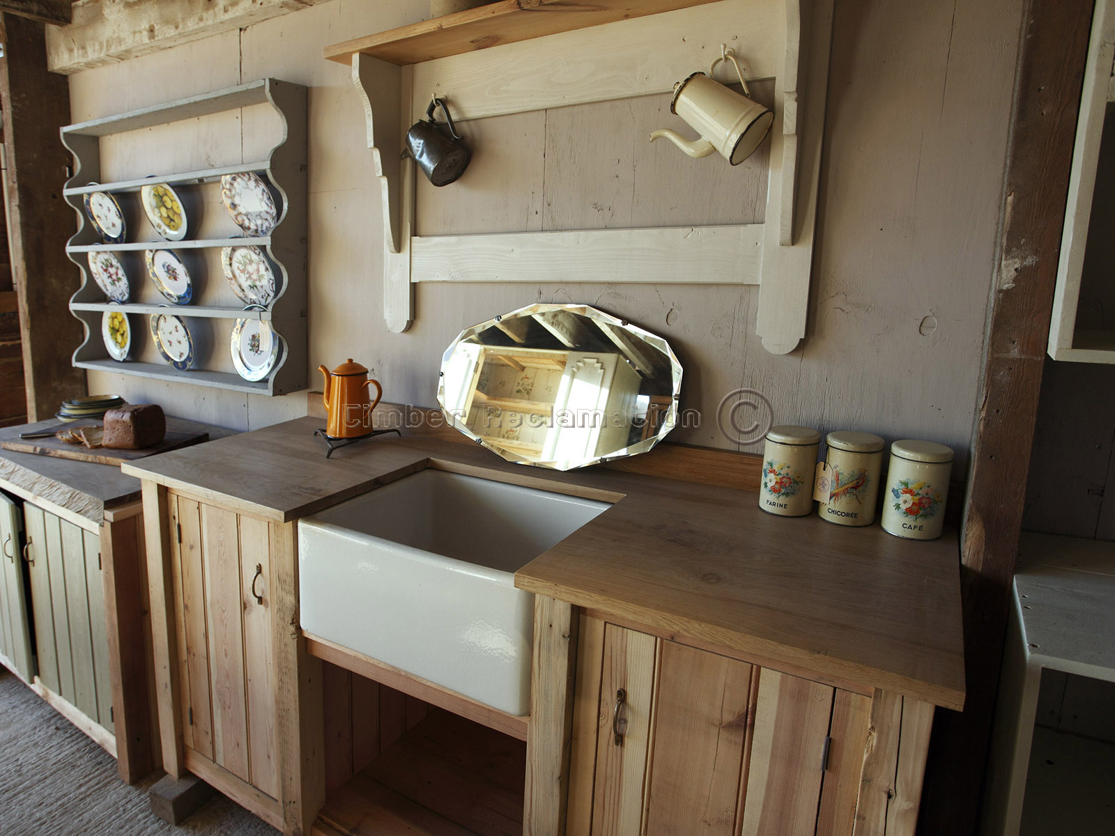 Bespoke Solid Wood Kitchen Units from Reclaimed Timber