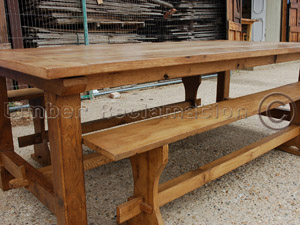 Bespoke Furniture: Outsize Garden Table and Bench