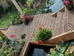 Garden Landscaping using reclaimed timbers