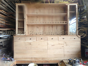 Bespoke Dresser being crafted from Reclaimed Oak