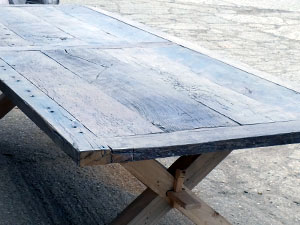 Table made from Reclaimed Romanian Oak