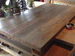 Timber Reclamation News And Special Items For Sale - Rustic restaurant table tops