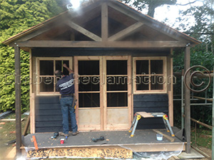 Summer House from Reclaimed Timber
