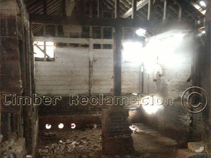Barn Conversion by the Timber Reclamation Company :  At Start From Inside