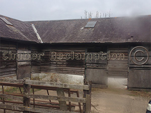 Barn Conversion by the Timber Reclamation Company :  At Start From Outside