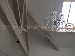 Barn Conversion by the Timber Reclamation Company :  Light on Old Timber