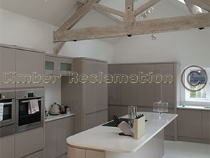 Barn Conversion by the Timber Reclamation Company :  Showing a Finished Kitchen