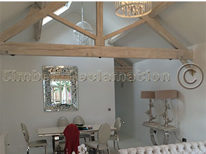 Barn Conversion by the Timber Reclmation Company :  Showing a Finished Rooom