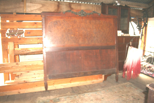For SALE :Burr walnut Veneered Bed