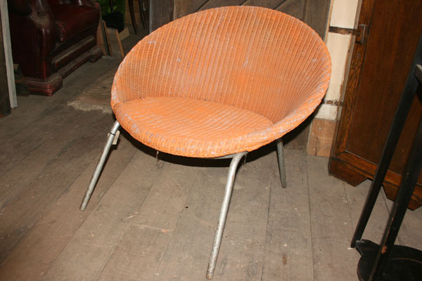 For SALE :Rush Seated loom Style Orange Chair