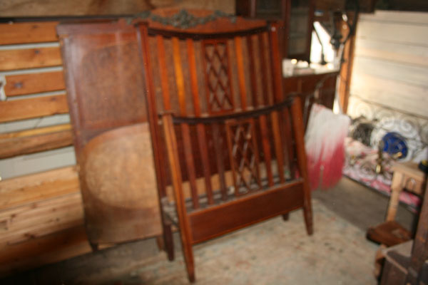 For Sale Mahogany Single Bed with Inlay